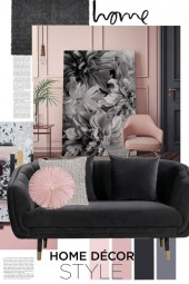 Pink and Black Home Decor Style
