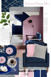 Pink and Classic Blue Home Decor