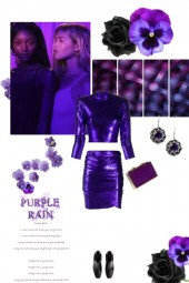 Purple Rain with a Touch of Black