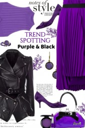 notes of style purple and black