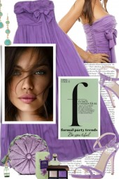 Fashion Party Trends in Purple and Mint
