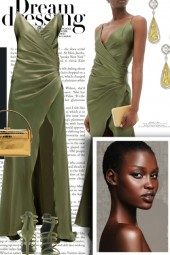 Dream Dressing in Olive Green