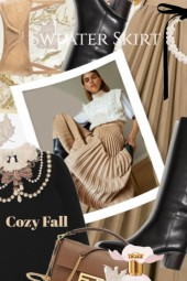 Cozy Fall Sweater Skirt Style