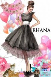 Happy Birthday Rhana