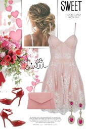 Pink Hearts and Flowers