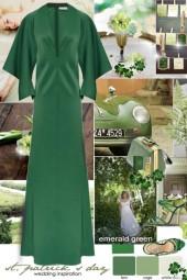 Emerald Green St. Patricks Day Wedding