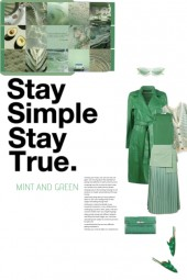 Stay Simple in Mint and Green