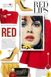 Fashion Delivers in Red and Yellow