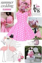 Summer Pink Flamingo Wedding
