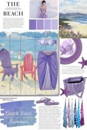 Beach Vibes in Summer Purple