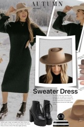 Autumn Sweater Dress