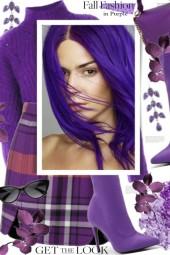 Fall Fashion in Purple