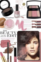 The Beauty Edit in Brown and Pink