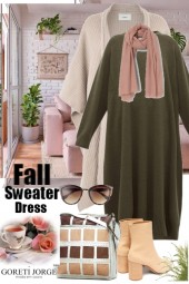 Fall sweater Dress