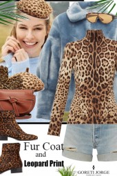 Fur Coat And Leopard Print