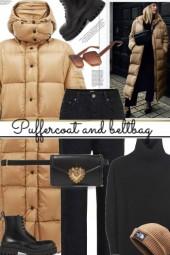Puffercoat and beltbag