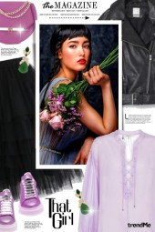 Black & lavender