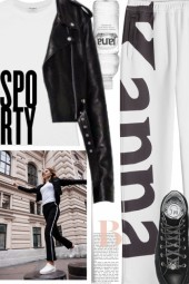 Sporty - black and white