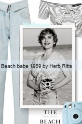 Madonna - Beach babe 1989 by Herb Ritts