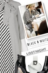 last night - black and white