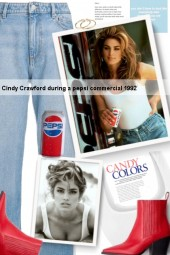 Cindy Crawford during a pepsi commercial 1992