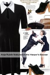 Anja Rubik featured in the Harper's Bazaar