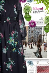 Floral maxi-dress in Florence