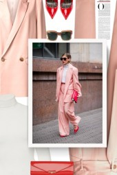Suit - Peach and Red