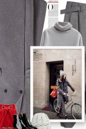 Fall/winter - grey and red
