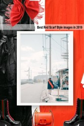 Best Red Scarf Style images in 2019