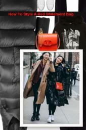 How To Style A Red Statement Bag
