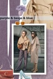 purple & beige & blue