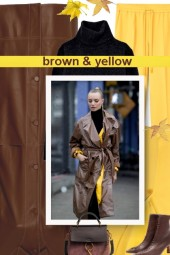 brown & yellow