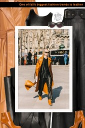 One of fall's biggest fashion trends is leather