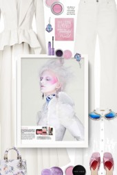 BUSINESS PARTY - white, pink and purple