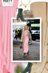 party style - pink & beige & green