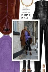 Street style - Purple Turtleneck Sweater