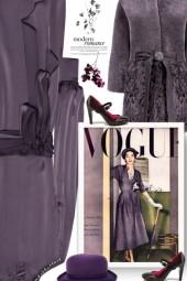 purple modern romance
