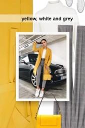 yellow, white and grey