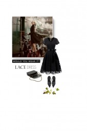 classic style - lace dress