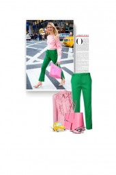street style - pink and green