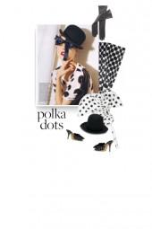 Vintage 1960 White Contrast Polka Dot Print Maxi S