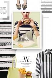 CHANEL VINTAGE striped dress