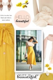 Johanna Ortiz Fresh Lemon Ruched Midi Skirt