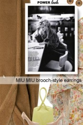 MIU MIU brooch-style earrings