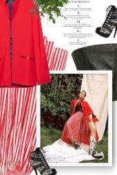 red white striped skirt