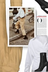 SEE BY CHLOÉ City high-waisted cargo pants