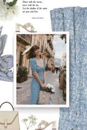 ANJA SCHWERBROCK light blue scarf