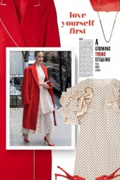 VALENTINO Ruffled polka-dot dress