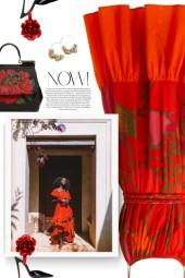 RHODE Lea floral-print cotton dress